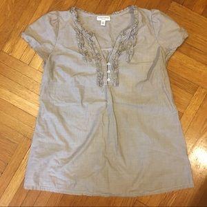 Liz Lange Target Maternity Gray Short Sleeve Top